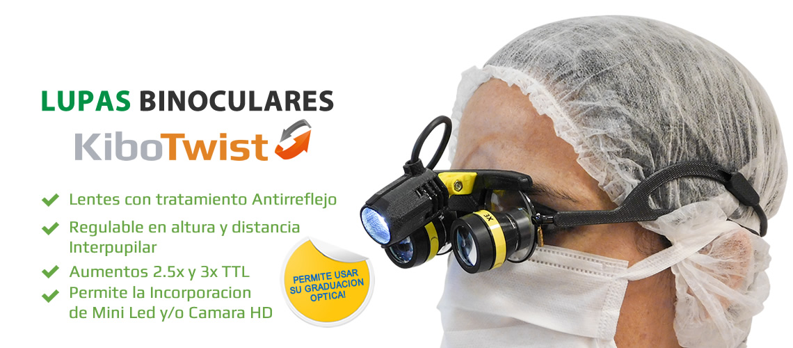 Lupas BinocularesFijas sobre lentes de Protección KiboTwist - Kibovisión
